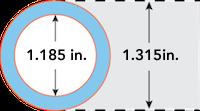 34 pipe dimension
