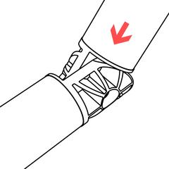 Insert second PVC pipe into adjustable elbow