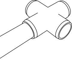 PVC Cross Inserted