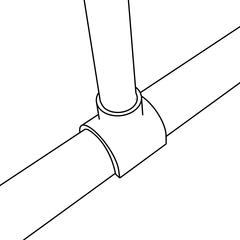 Do not PVC cement Snap Adapter