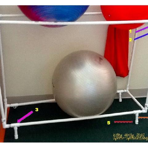 PVC Pipe Ball Rack