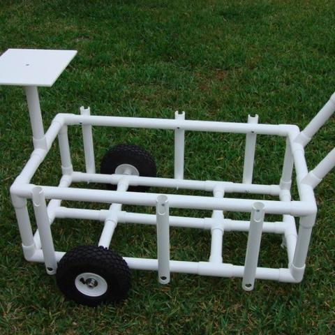 PVC Fishing Cart
