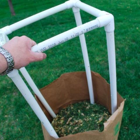 PVC Lawn Bag Stand