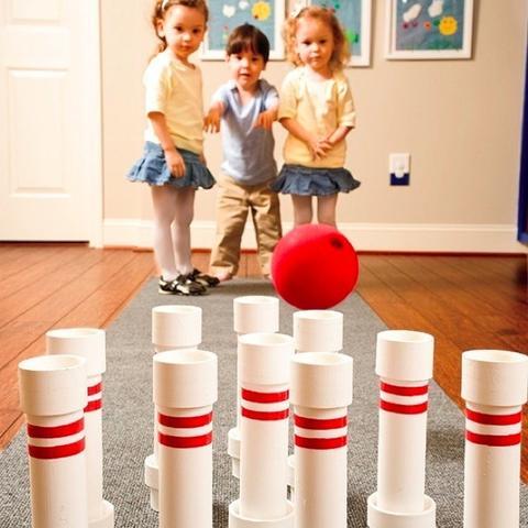 PVC Pipe Bowling Set