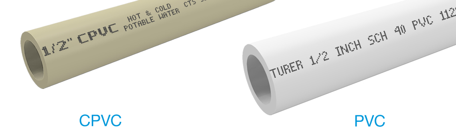 Pvc vs cpvc incompatibility formufit for Copper vs plastic pipes