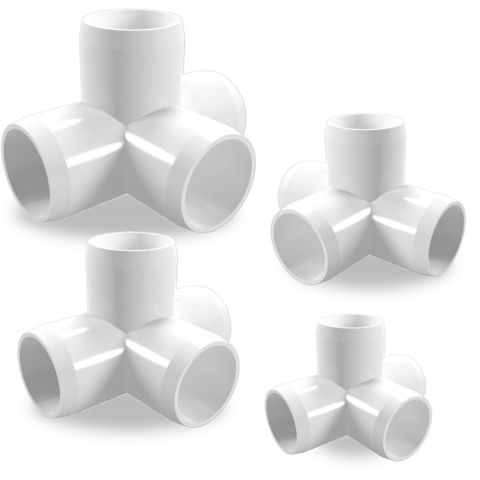 4-Way PVC Sizes