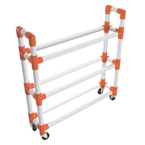 PVC Athletic Ball Storage Cart