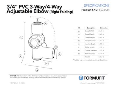 3/4 in. External Adjustable Elbow TSD