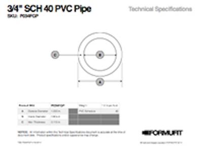 3/4 in. PVC Pipe TSD