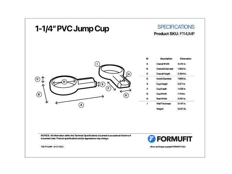 1-1/4 jump cup tsd